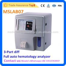 Krankenhaus Voll-Auto-Blut-Test Analyzer MSLAB07i, volle Auto 3-teilige Differenzierung Hämatologie Analyzer