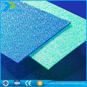 Prateleiras de policarbonato de papel virgem de peso leve folha acrílica de plástico