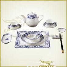 Lua azul cerâmica manchada Série fresca da brisa