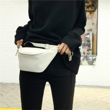 Damenmode Beliebte White Leather Fanny Packs