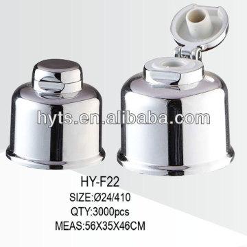 24/410 aluminium flip top cap