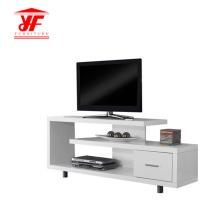 Weißer Hochglanz-TV-Ständer mit einer Schublade