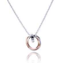 Мода Из Нержавеющей Стали Любовник Пара Ювелирные Изделия Кулон Ожерелье Цепь