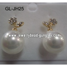 2012 fashion shell pearl earrings