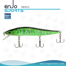 Angler Select Plastic Stick Isca Pesca artes Tackle Lure com Vmc agudos ganchos (SB3012)