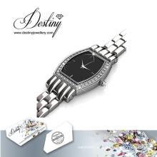 Destino joyería cristal de Swarovski real reloj