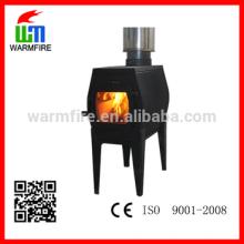 Modèle WM-K-100GLCB poêle à bois multi-combustibles en fonte chaude poêle à bois