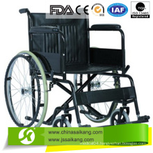 Steel Wheelchair with Fixed PVC Armrest