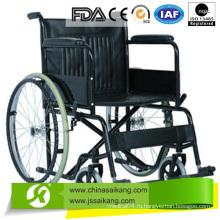 Стальная инвалидная коляска с фиксированным подлокотником ПВХ