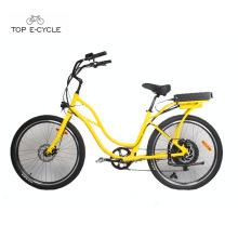Hot sale cheap beach cruiser electric bicycle ebike e-bike 2017