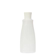 Bouteille de crème gommage facial ovale en plastique de 100 ml