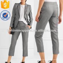 Wolle-Jacquard-Straight-Bein-Hosen Herstellung Großhandel Mode Frauen Bekleidung (TA3046P)