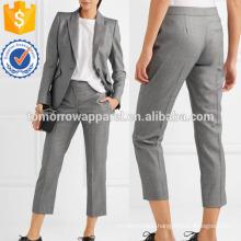 Wool-jacquard Straight-leg Pants Manufacture Wholesale Fashion Women Apparel (TA3046P)