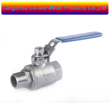 Stainless steel 304 and 316 Manual 2pc Ball Valve