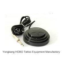 Interruptor de pie de la fuente de alimentación del tatuaje de la máquina del tatuaje del pedal del negro