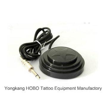 Interruptor de pé de fonte de alimentação de tatuagem de máquina de tatuagem de pedal preto