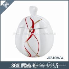 Weißer Porzellan-Zuckertopf, Candy Jar
