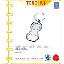 Blank Silver custom shape metal bottle opener keychains