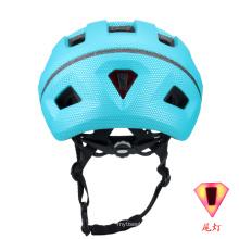 Novo capacete de luz led para bicicleta