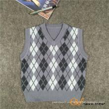 El suéter 100% del bebé del algodón diseña el suéter del chaleco de punto de los cabritos