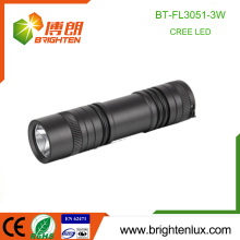 Factory Supply 3*AAA Battery Operated Aluminum 180 lumen Long Beam Portable 3W Cree XPE led High Power Torch