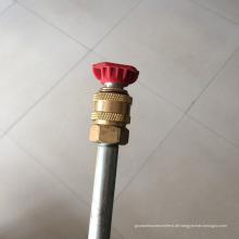 """Druckwaschpistole mit hydraulischem Stahl Bewehrungsluft Schnellwechsler 1/4 """"3/8"""""""