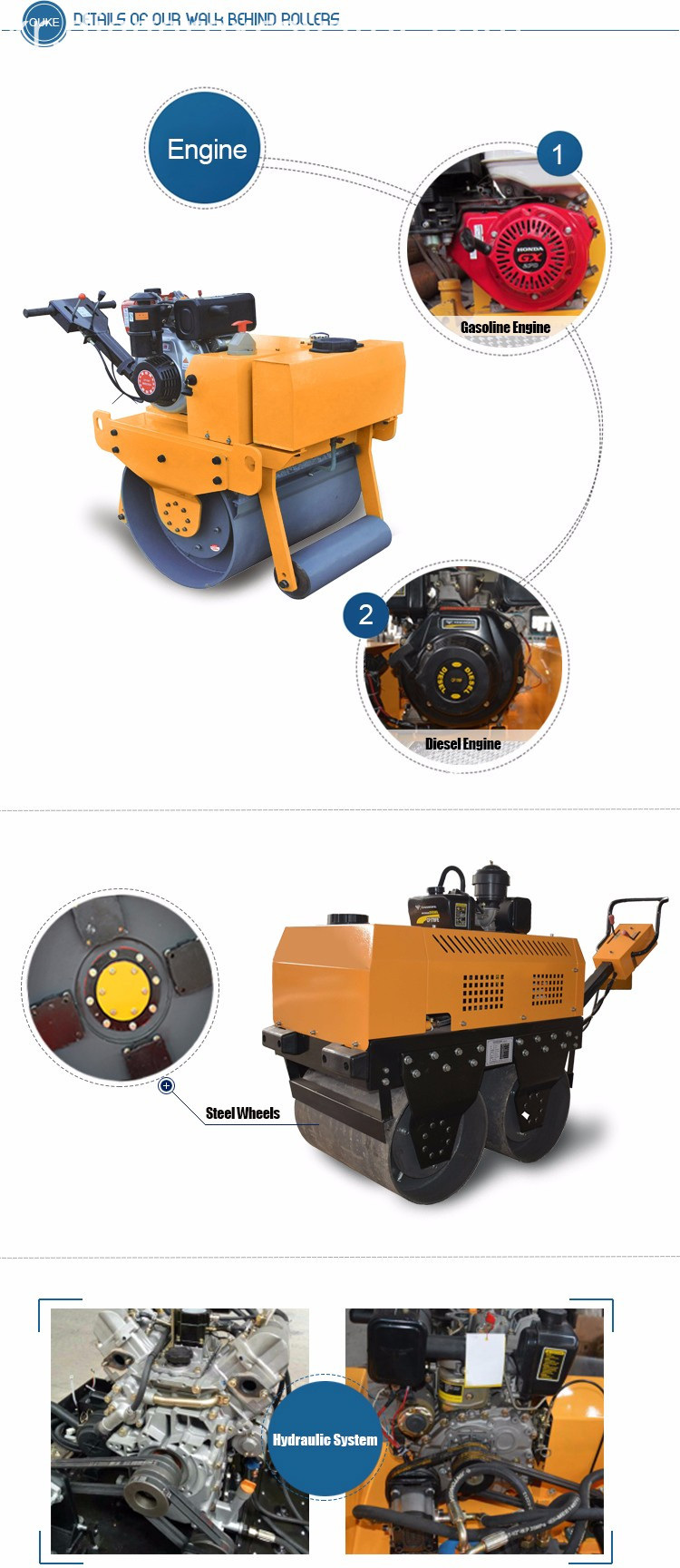 Double Drum Road Roller Compactor