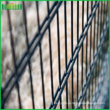 Pvc vendido caliente de la vida útil que cubre la cerca doble del acoplamiento de alambre de la seguridad de la fábrica de Anping