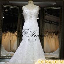 Greek Princess style backless lace mermaid wedding dress fish tale dress