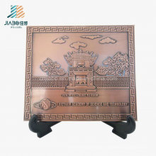 Top Sell Wholesale Factory Zinc Alloy Square Custom Bronze Commemorate Tray
