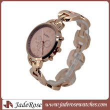 Rosegold Elegant Pink Dial Fashion Quartz Watch for Lady