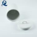 Wholesale Custom White Ceramic Cookie Jar With Lid