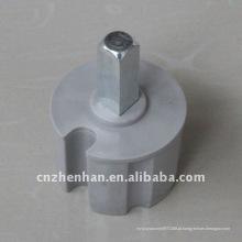 60mm metal rolo conector de extremidade toldo componente-bucha de tubo de rolo suporte-plástico plug de extremidade para toldo