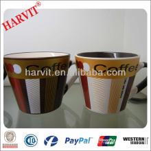 Tazas cerámicas de la taza de Coffe del precio barato con la venta al por mayor metálica de la decoración del final