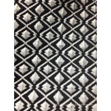Black white diamond shape air layer jacquard fabric