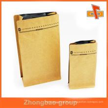 Venta al por mayor de papel de aluminio de fondo inferior papel kraft bolsa