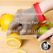Luvas resistentes ao corte de malha de aço inoxidável / avental de mala direta