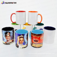 Sublimation 11oz Inner and Handle Color Ceramic Mug Made in China At Low Price Wholesale