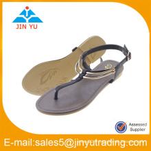 Usine de chaussures de dames plates design OEM