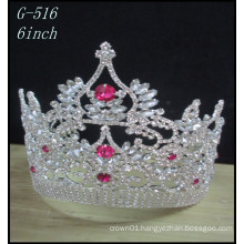 Wholesale Wedding Silver jewellery Tiara kids princess pink pageant crowns