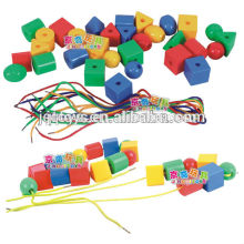 2016 Plastic threading beads for kids for sales