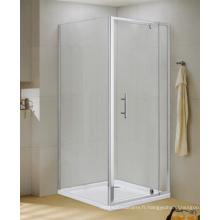 Porte de douche carrée de porte d'ouverture d'axe pour l'Australien