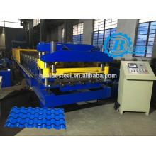 De Buena Calidad Hoja De Aluminio Metcoppo Tile Roll Forming Machine, Metcoppo Roofing Tile Hacer Máquina