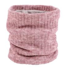 Winter solid color  scarf neck warmer polar fleece knitting neck warmer