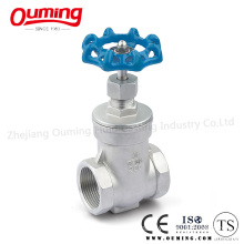 Stainless Steel Gate Valve with Threaded End
