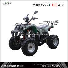 Quad EEC de 200 cc avec moteur semi-automatique refroidi à l'air, VTT de 250 cc avec approuvé par la CEE Refroidi à l'eau Hot Sale