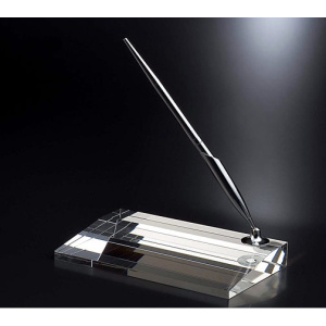 Crystal Desktop Pen Namecard Holder