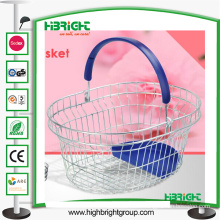 Cosmetics Store Round Metal Wire Shopping Basket