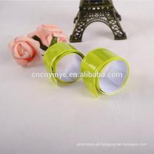 fluorescência amarela de pvc slap pulseira bracelete