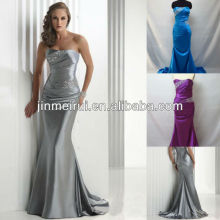 Free shipping real sample top charming strapless sweetheart satin prom dresses JPD006